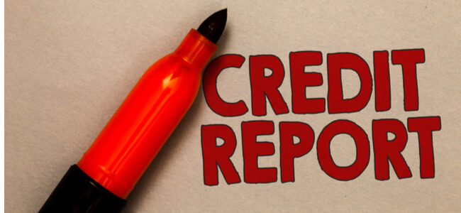 Word writing text Credit Report